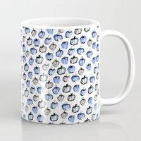 Blue And Grey Apples Mug