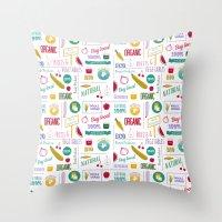 Farmers Market Pattern -… Throw Pillow