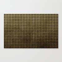 Royal Black - Textured P… Canvas Print
