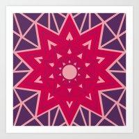Geometric Star Mandala Art Print