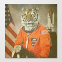 Moon Tiger  Canvas Print