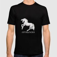 HORSE - Appaloosa Mens Fitted Tee Black SMALL