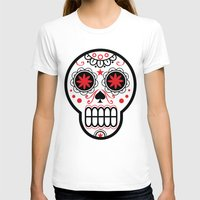 sugar skull T-shirts featuring sugar skull by Diseños Fofo