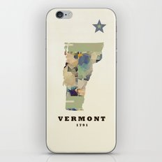 Vermont state map iPhone & iPod Skin