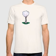 Goatfluff Mens Fitted Tee SMALL Natural