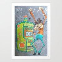 Skinny Pig Playing Slot … Art Print