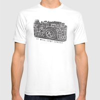 TAKE A PICTURE Mens Fitted Tee White SMALL