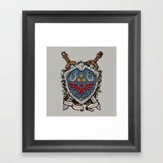 The shield Framed Art Print