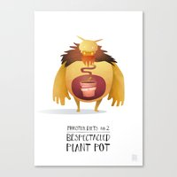Monster Diets No.2 Canvas Print