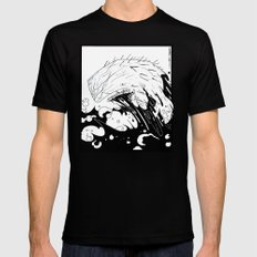 Moby Dick SMALL Black Mens Fitted Tee