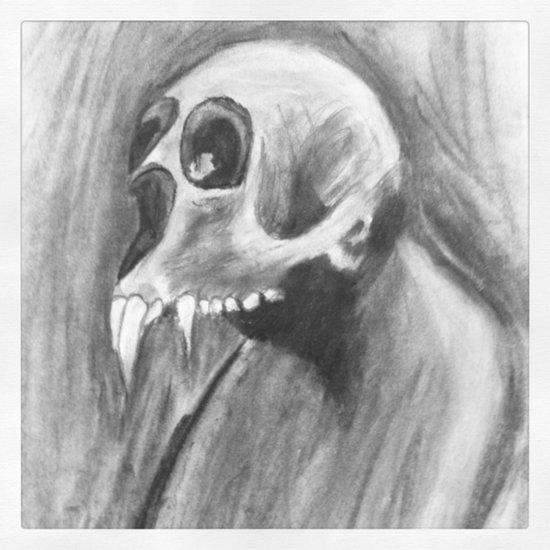 Skull with fangs Art Print