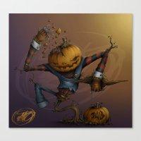 Freddy Pumpkins Canvas Print