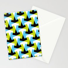 Geometric pattern (green + blue) Stationery Cards