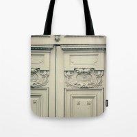 Paris Mint Door Tote Bag