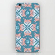 Pastel Fox Pattern iPhone & iPod Skin
