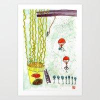 The Mission of Instant Noodles Art Print