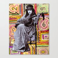Guitarist In Time Canvas Print