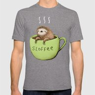 Sloffee Mens Fitted Tee Tri-Grey SMALL