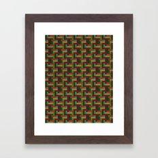 Woven Pixels III Framed Art Print