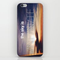 the sky is...  iPhone & iPod Skin