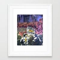 Double Cross Framed Art Print