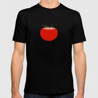 The Big Tomato Mens Fitted Tee Black SMALL