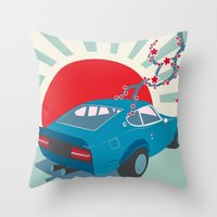 Datsun Z Throw Pillow