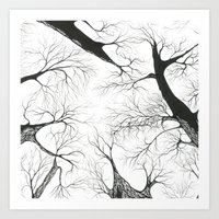 Galhos Art Print