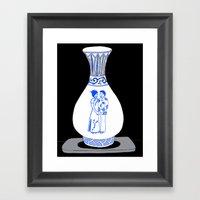 Ming Vase Couple Framed Art Print