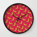 Vendedor de bananas Wall Clock