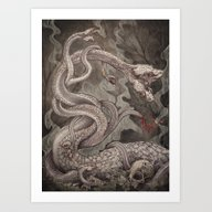 The Lernaean Hydra Art P… Art Print
