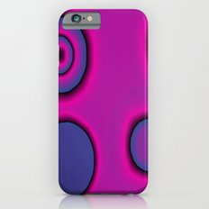 pink and purple circles abstract iPhone 6 Slim Case