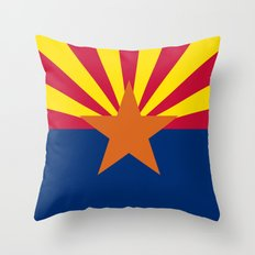 The State flag of Arizona, the 48th state - Authentic version Throw Pillow