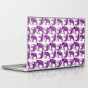 Elephants lilac Laptop & iPad Skin