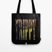 Black With White Stripes... Or? Tote Bag