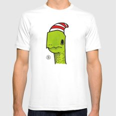 ben the turtle White SMALL Mens Fitted Tee