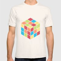 #68 Rubix Cube Mens Fitted Tee Natural SMALL