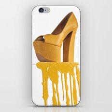 Dripping Yellow Shoe iPhone & iPod Skin