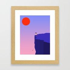 Cliff//Rose Framed Art Print