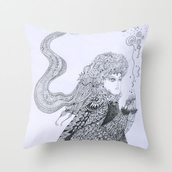 Winter Goddess Throw Pillow