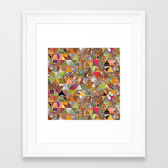 Like a Quilt Framed Art Print