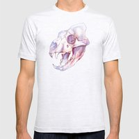Tiger Skull Mens Fitted Tee Ash Grey SMALL