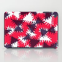Triangle painted and digital pattern iPad Case