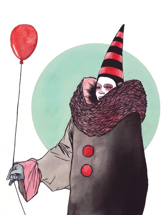The Balloon Man Art Print