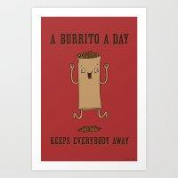 A Burrito A Day Art Print