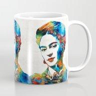 Frida Kahlo Art - Viva L… Mug