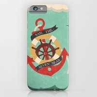 iPhone & iPod Case featuring Sail The Seven Seas by Robert Woods