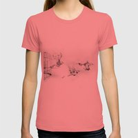 Fuori Dalle Gabbie Womens Fitted Tee Pomegranate SMALL