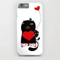 iPhone & iPod Case featuring Cats with hearts by Kristina Sabaite