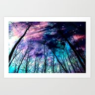 Art Print featuring Black Trees Colorful Spa… by 2sweet4words Designs
